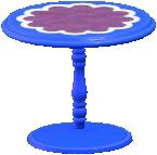 キュートなティーテーブルのブルーの画像