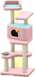 キャットタワーのピンクの画像