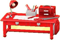キュートなDIYテーブルのレッドの画像