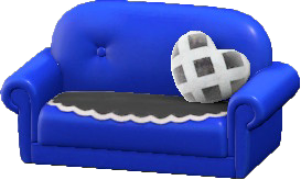 キュートなソファのブルーの画像