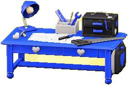 キュートなDIYテーブルのブルーの画像