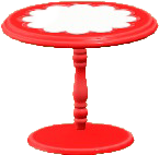 キュートなティーテーブルのレッドの画像
