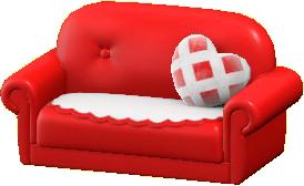 キュートなソファのレッドの画像
