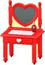 キュートなドレッサーのレッドの画像