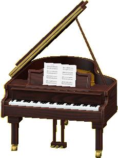グランドピアノのウォルナットの画像