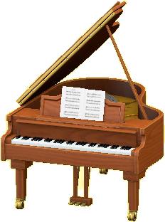 グランドピアノのチェリーの画像
