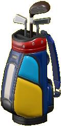 ゴルフバッグのマルチカラーの画像