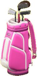 ゴルフバッグのピンクの画像