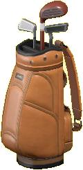 ゴルフバッグのブラウンの画像