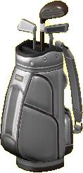 ゴルフバッグのシルバーの画像