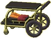 サービングカートのブラックの画像