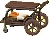 サービングカートのブラウンの画像