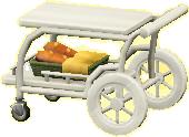 サービングカートのホワイトの画像