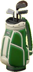 ゴルフバッグのグリーンの画像