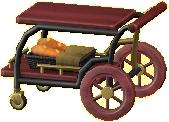 サービングカートのレッドの画像