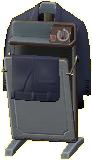 ズボンプレッサーのグレーの画像