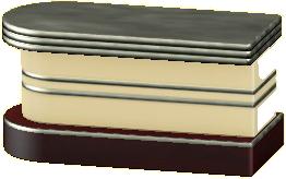 ダイナーなカウンターテーブルのクリームの画像
