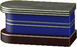 ダイナーなカウンターテーブルのブルーの画像