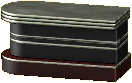 ダイナーなカウンターテーブルのブラックの画像