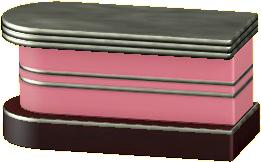ダイナーなカウンターテーブルのピンクの画像