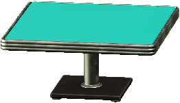 ダイナーなダイニングテーブルのエメラルドの画像