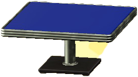 ダイナーなダイニングテーブルのブルーの画像