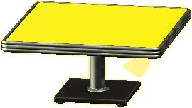 ダイナーなダイニングテーブルのイエローの画像