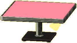 ダイナーなダイニングテーブルのピンクの画像