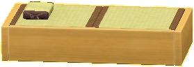 タタミのベッドのナチュラルの画像
