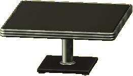 ダイナーなダイニングテーブルのブラックの画像