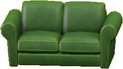 ダブルソファのグリーンの画像