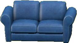 ダブルソファのブルーの画像