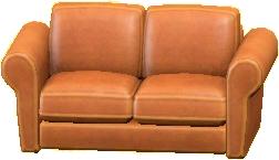ダブルソファのライトブラウンの画像