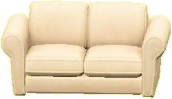ダブルソファのホワイトの画像