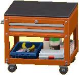 ツールカートのオレンジの画像
