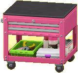 ツールカートのピンクの画像