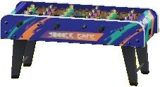 テーブルサッカーのブルーの画像