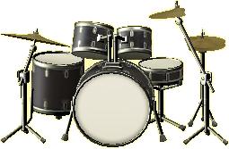 ドラムセットのコスモブラックの画像