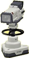 テレビカメラのホワイトの画像