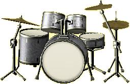 ドラムセットのB&Wの画像