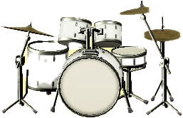 ドラムセットのパールホワイトの画像