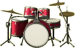 ドラムセットのローズピンクの画像