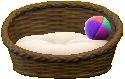 ペットのベッドのダークブラウン(外側)の画像