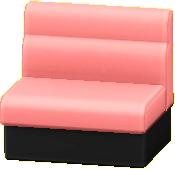 ボックスソファのピンクの画像