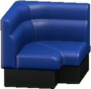 ボックスソファのコーナーのネイビーの画像