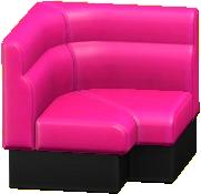 ボックスソファのコーナーのマゼンタの画像