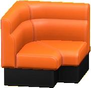 ボックスソファのコーナーのオレンジの画像