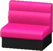 ボックスソファのマゼンタの画像