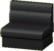 ボックスソファのブラックの画像