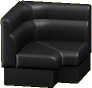 ボックスソファのコーナーのブラックの画像